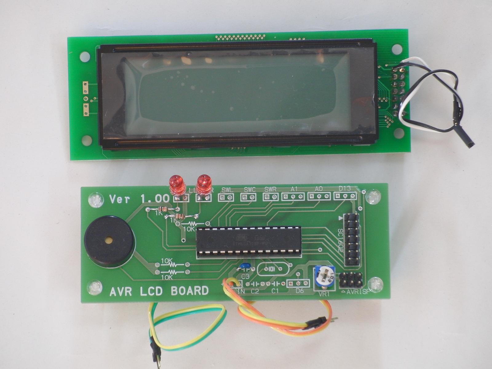 I2Cインターフェイス基板 LCD20x4付き (キット)